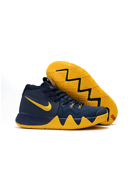 2018 Kyrie Irving Shoes 4 Deep Blue Yellow