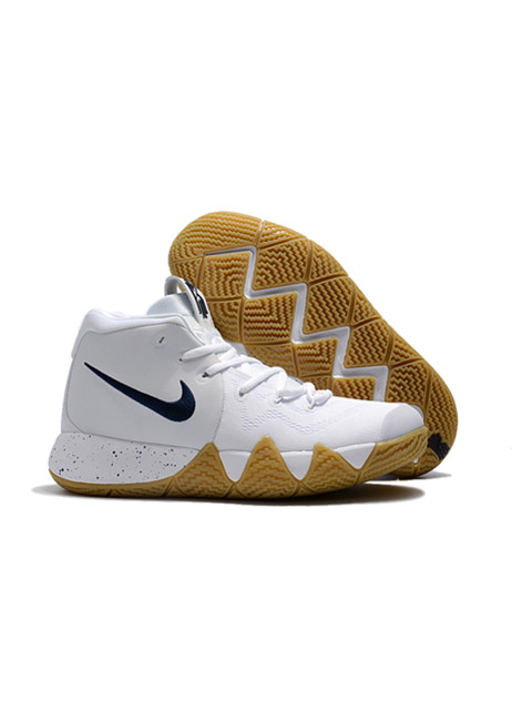 2018 Kyrie Irving Shoes 4 white deep yellow