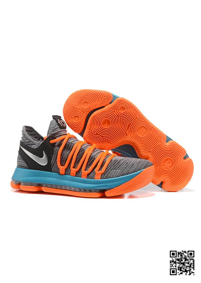 huge selection of 3577e 78c6b HJK-689571 Sale Nike KD 10 Orange Grey Blue