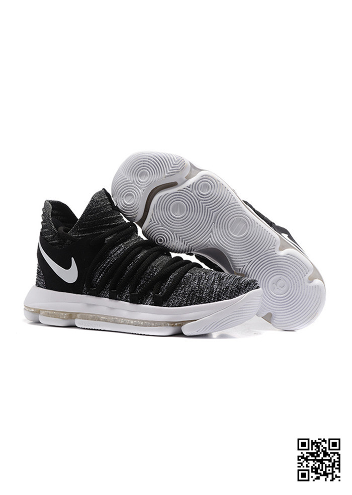 HJK-689578 Sale Nike KD 10 White Black