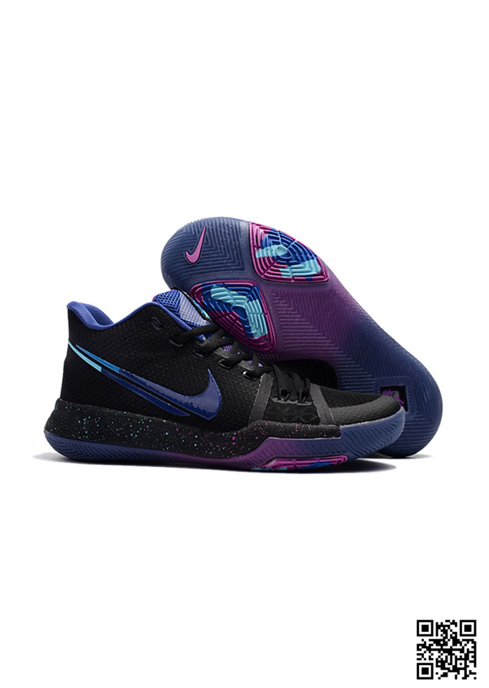 KYR-689031 Sale Nike Kyrie 3 Shoes Dream Black Blue
