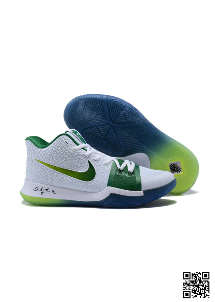 KYR-689039 Sale Nike Kyrie 3 Shoes Green White