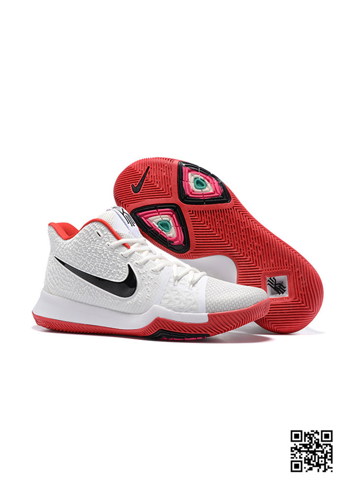 KYR-689051 Sale Nike Kyrie 3 Shoes White Red