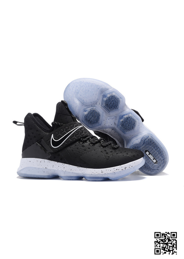 HJK-689543 Sale Nike Lebron 14 Black White