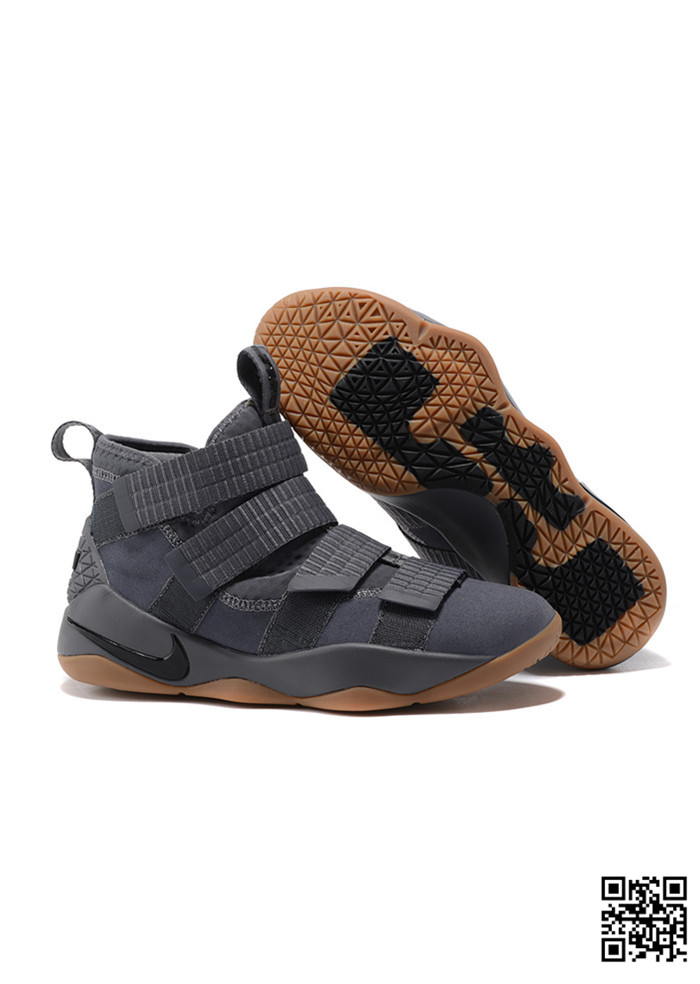 POU-689023 Sale Nike Lebron Soldier 11 Grey Rubber