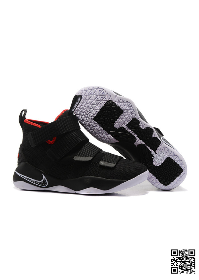 POU-689028 Sale Nike Lebron Soldier 11 Red Black