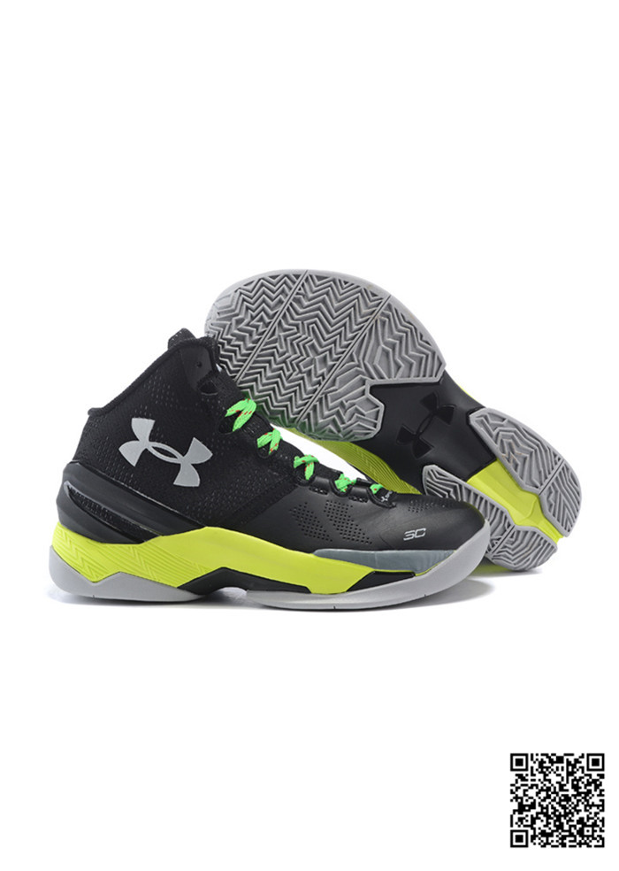 2016 UA New Stephen Curry 2 Black Green Yellow