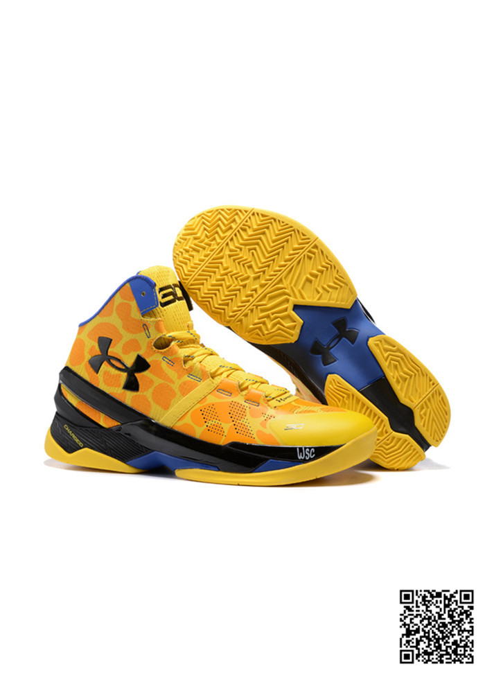 2016 UA New Stephen Curry 2 Yellow Blue Black
